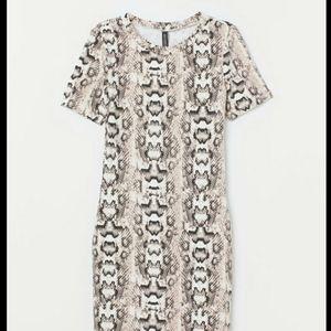Snake skin Jersey dress